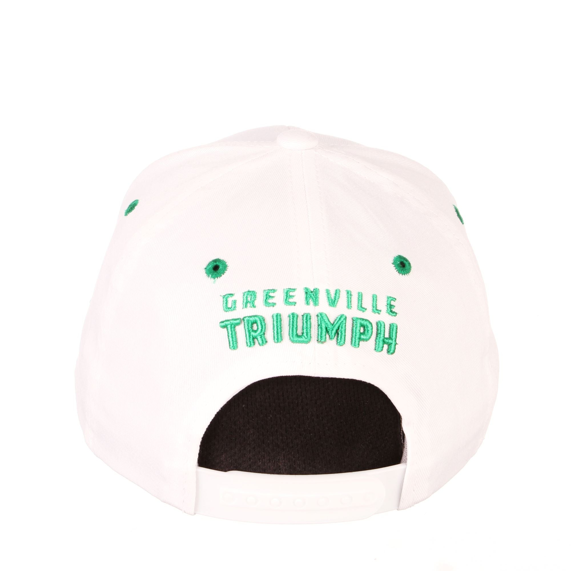 Zephyr Triumph Script White Adjustable Hat