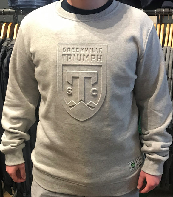 SDS Grey Embossed Crewneck