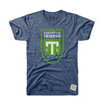Greenville Triumph Retro Brand Navy Tri-Blend Tee
