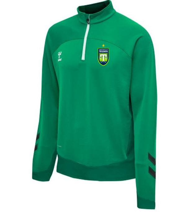 hummel Green Lead Half-Zip Jacket