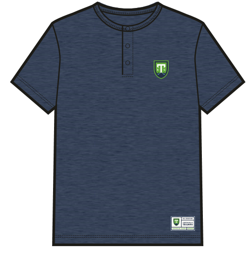 SDS Navy Three-Button Henley Short-Sleeve T-Shirt
