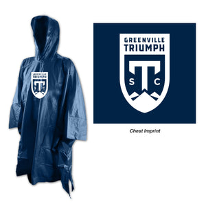 Greenville Triumph Navy Poncho