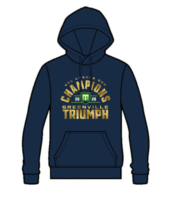 PRE-ORDER 2020 USL League One Champions Navy Youth Hoodie
