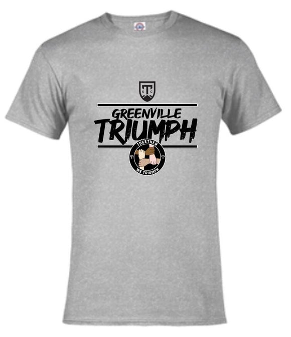 Together We Triumph Grey Short-Sleeve Tee Shirt