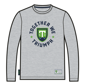 SDS Grey Together We Triumph Long-Sleeve T-Shirt