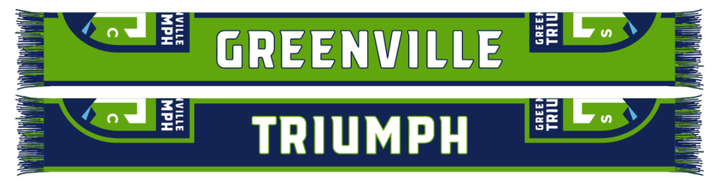 Greenville Triumph Traditional Knit Primary Scarf