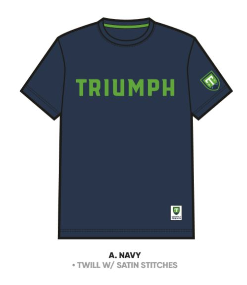 SDS Navy Satin Stitched Triumph T-Shirt