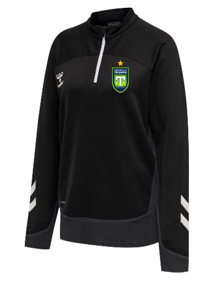 Women's hummel Black Lead Half-Zip Jacket