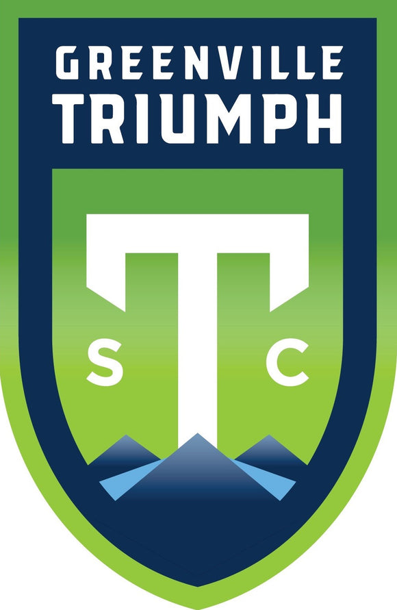 Jumbo Full-Color Greenville Triumph Crest Stickers