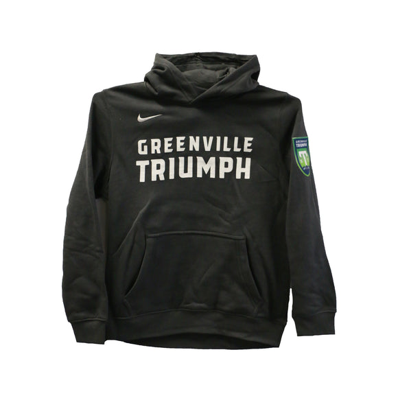 Greenville Triumph Youth Grey Nike Club Fleece Hoodie