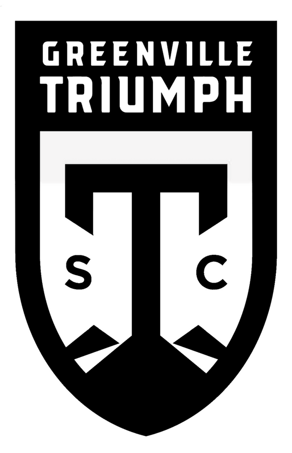 Jumbo Black-and-White Triumph Crest Sticker