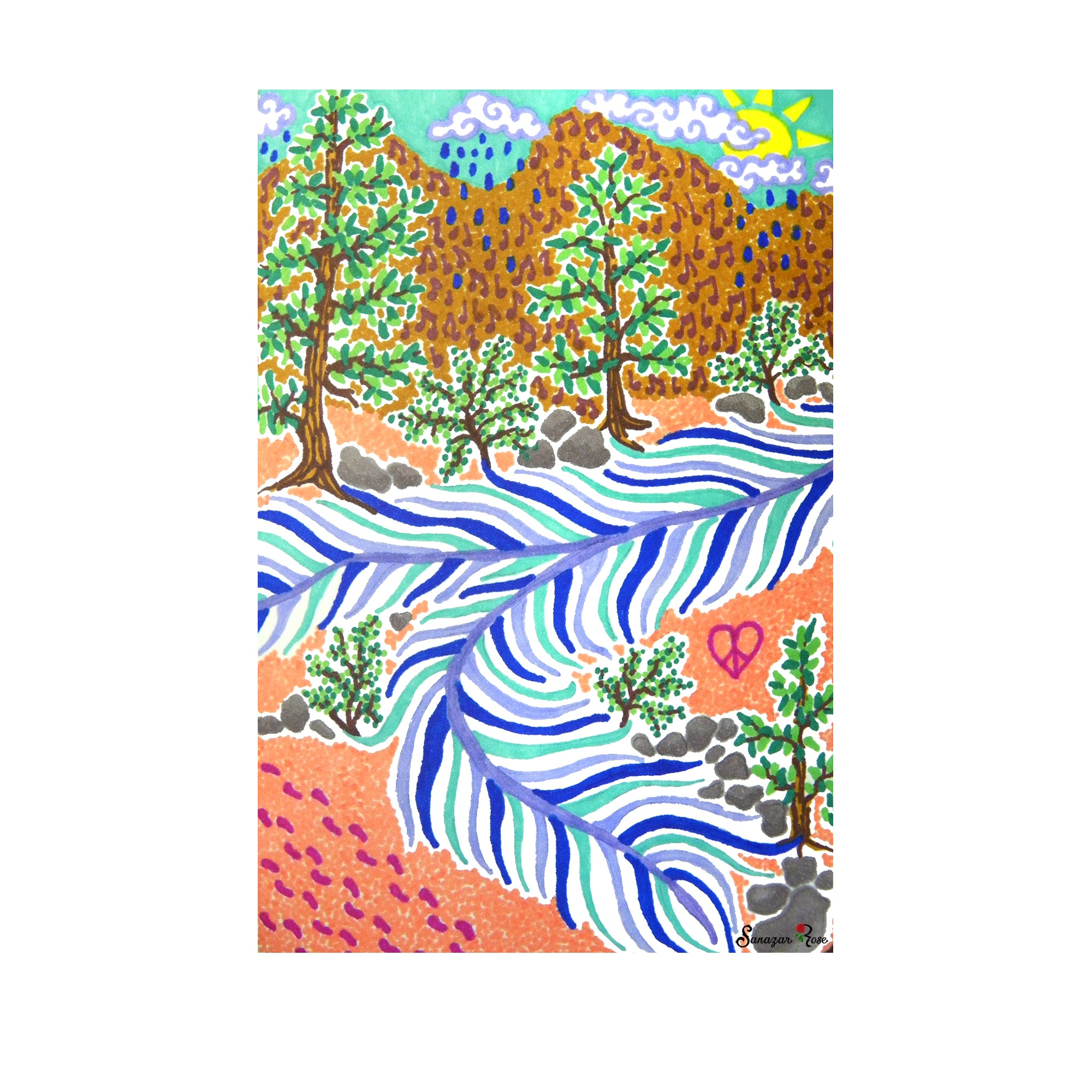 The Feather River ~ Framed Small Print