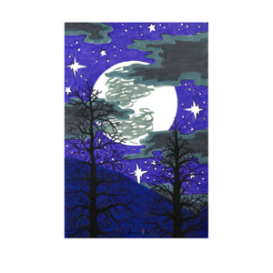Full Moon ~ Framed Small Print