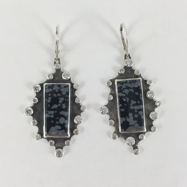 First Snow on Streets Earrings - One Of A Kind