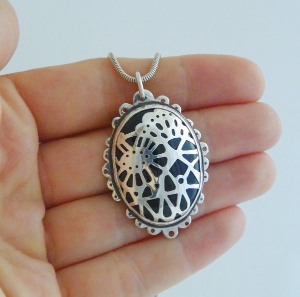 Dark Lace Pendant - One Of A Kind