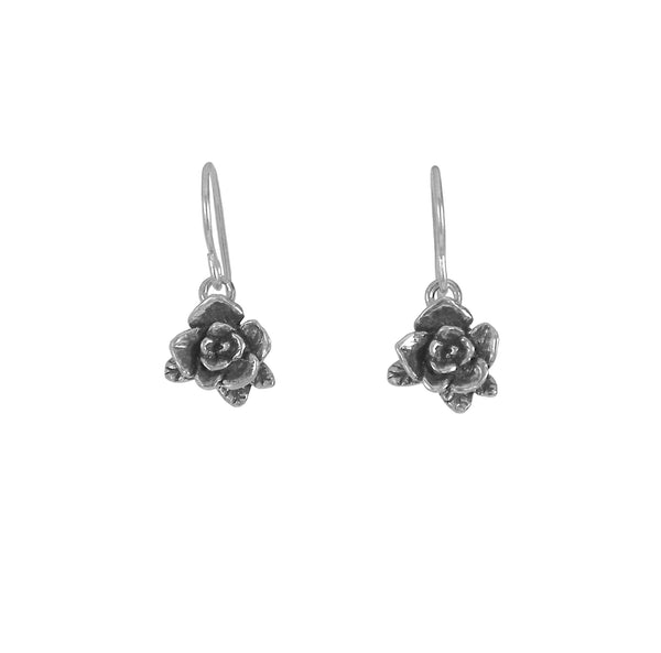 Mini Rose Dangle Earrings