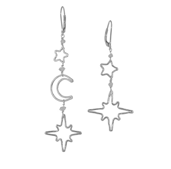 Mismatched Celestial Earrings