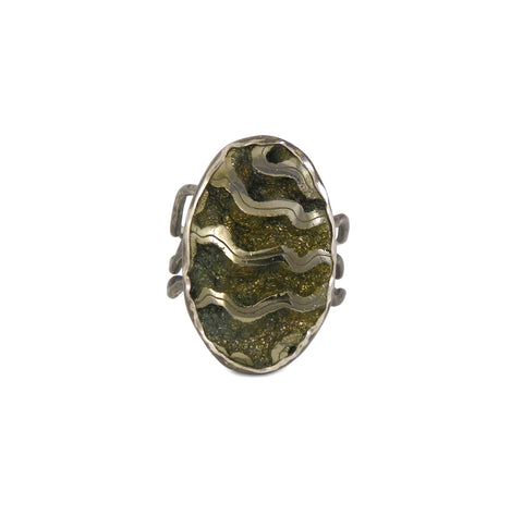 Russian Ammonite Ring - One Of A Kind