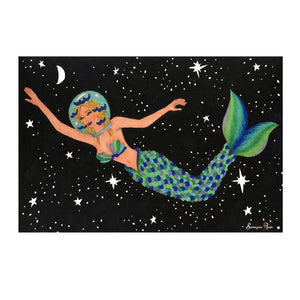 Space Mermaid ~ Framed Small Print
