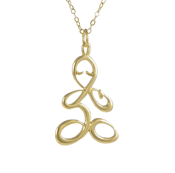 Gold Ohm Lotus Necklace