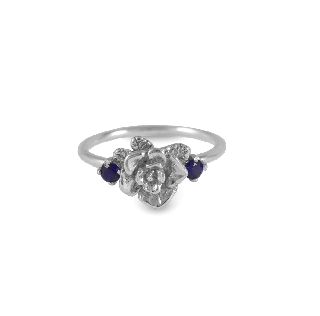 Mini Rose Ring with Colored Zircon