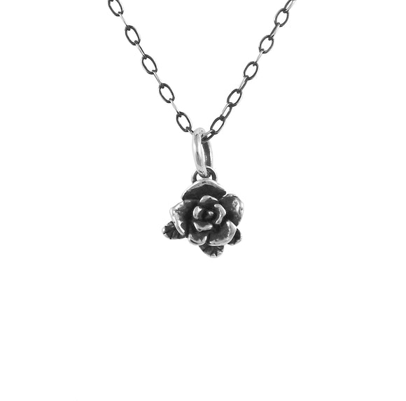Small Mini Rose Necklace