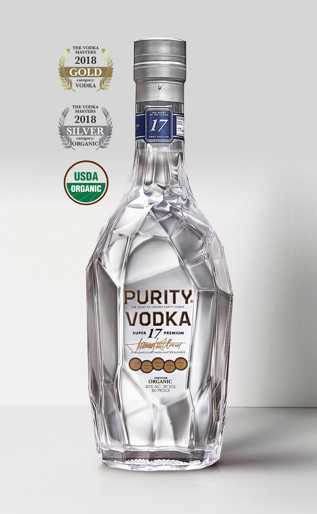 SUPER 17 PREMIUM ORGANIC VODKA