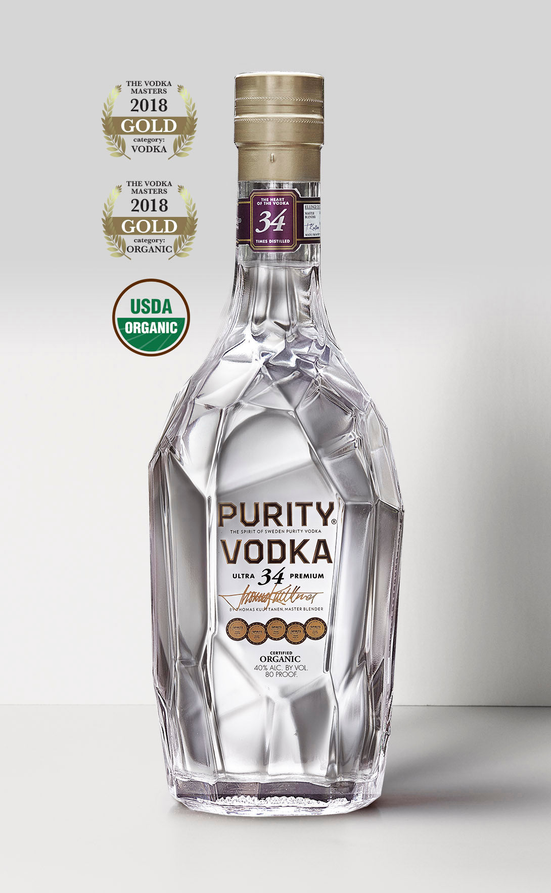 ULTRA 34 PREMIUM ORGANIC VODKA