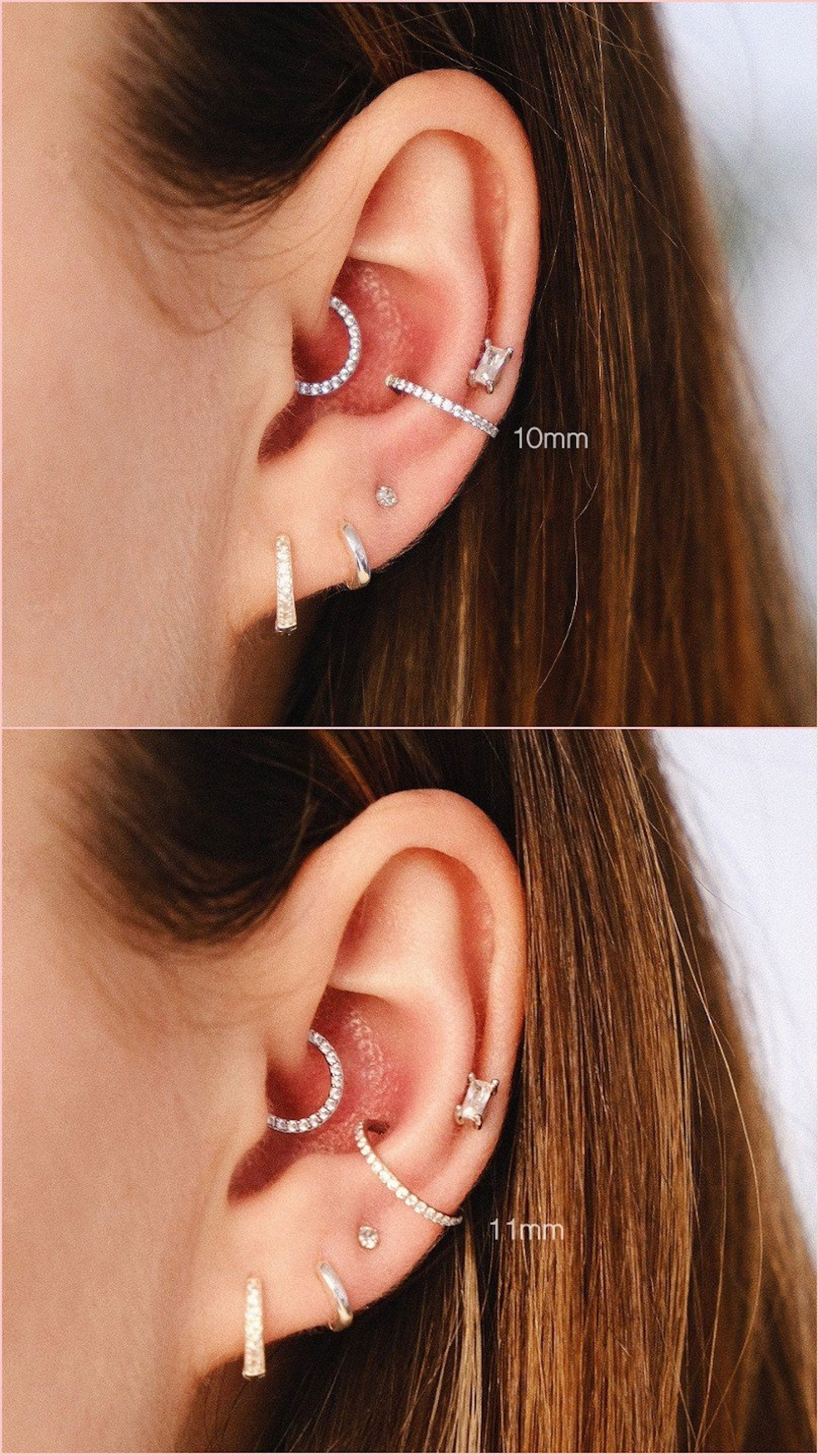 Conch piercing size guide conch hoop size conch ring size conch diameter