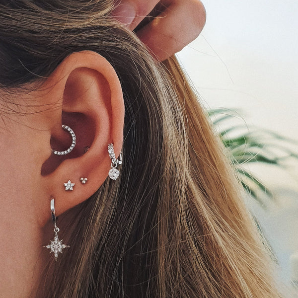 ❝BLOSSOM❞ Baby Crystal Flower Stud