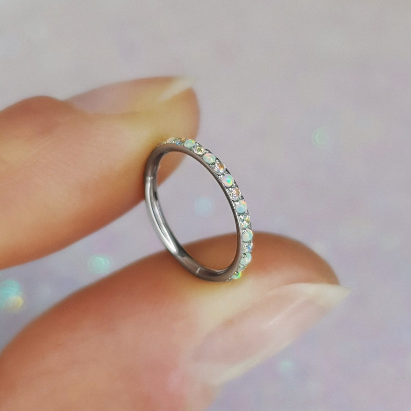 ANGEL Opal & Aura Pavé Eternity Seamless Clicker
