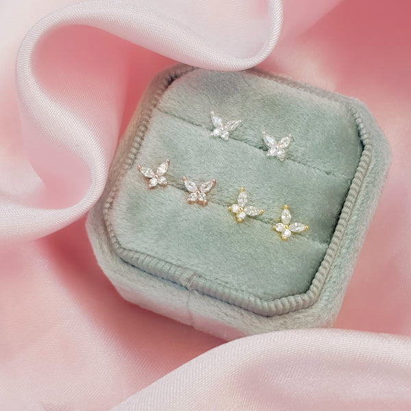 ❝BELLA❞ Crystal Butterfly Stud