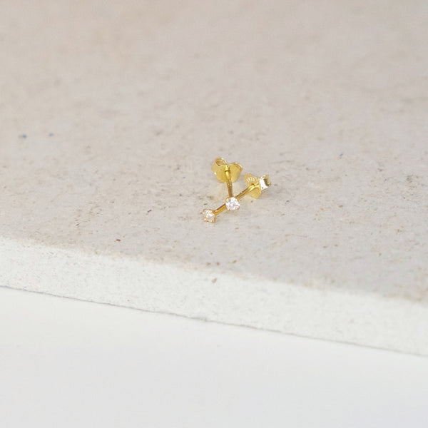 Solitaire Crystal Stud