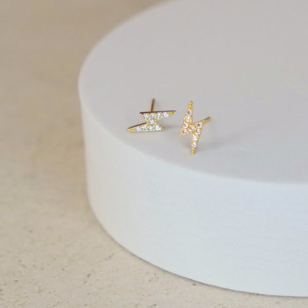 Lightning Bolt Pavé Stud
