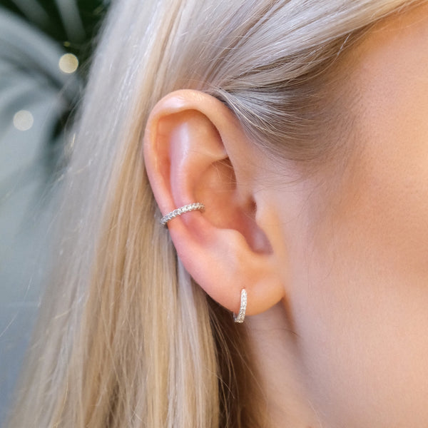 Slim Pavé Crystal Ear Cuff