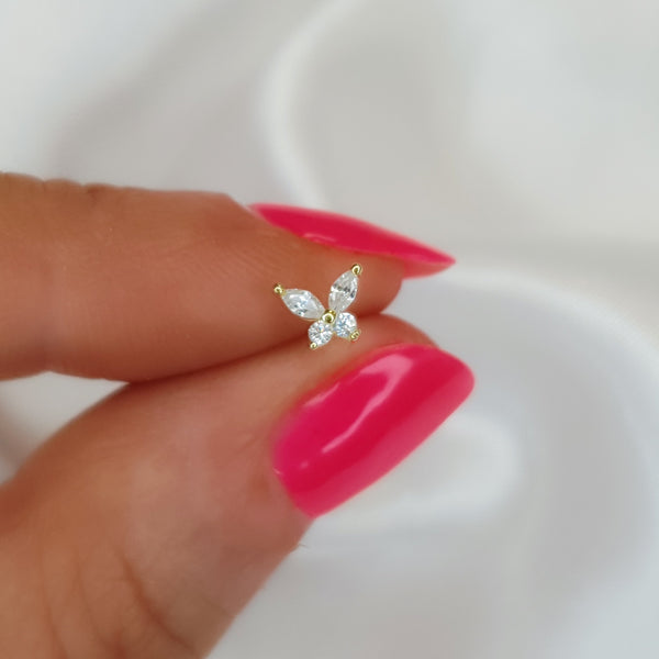 Butterfly Crystal Stud