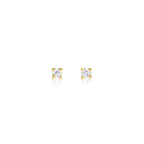 Solitaire Crystal Studs