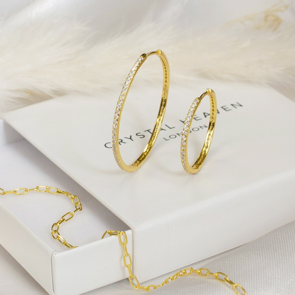 Eternity Pavé Hoops