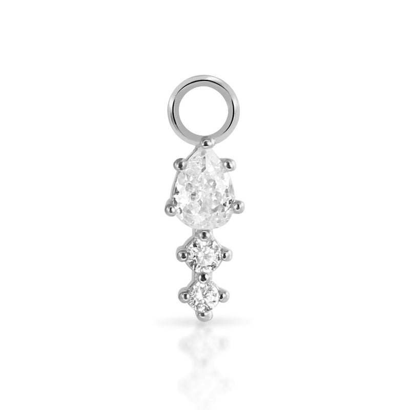 Teardrop Crystal Charm