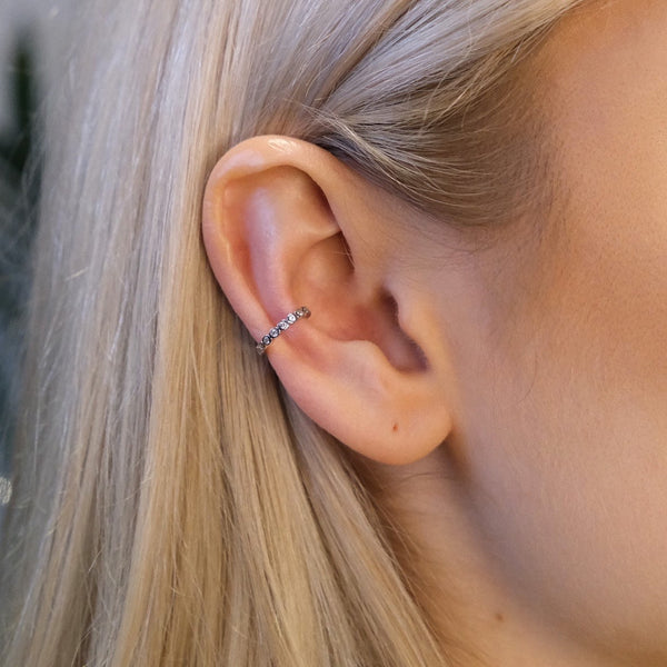 Bezel Crystal Ear Cuff