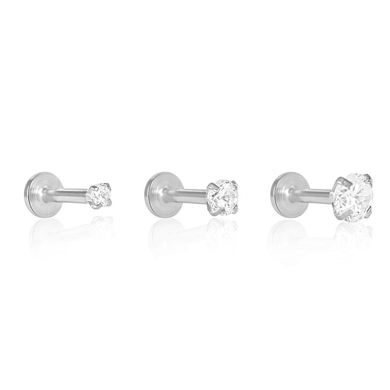 Solitaire Crystal Labret