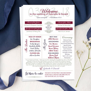 """Donna"" - Fun Infographic Wedding Program"