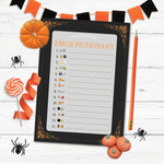 Printable Halloween Emoji Pictionary Game