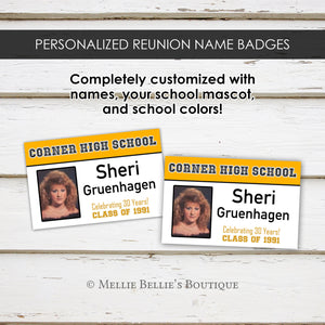 Customized Class Reunion Name Badges