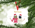 Personalized Best Friend's Christmas Ornament | Benelux Aluminum