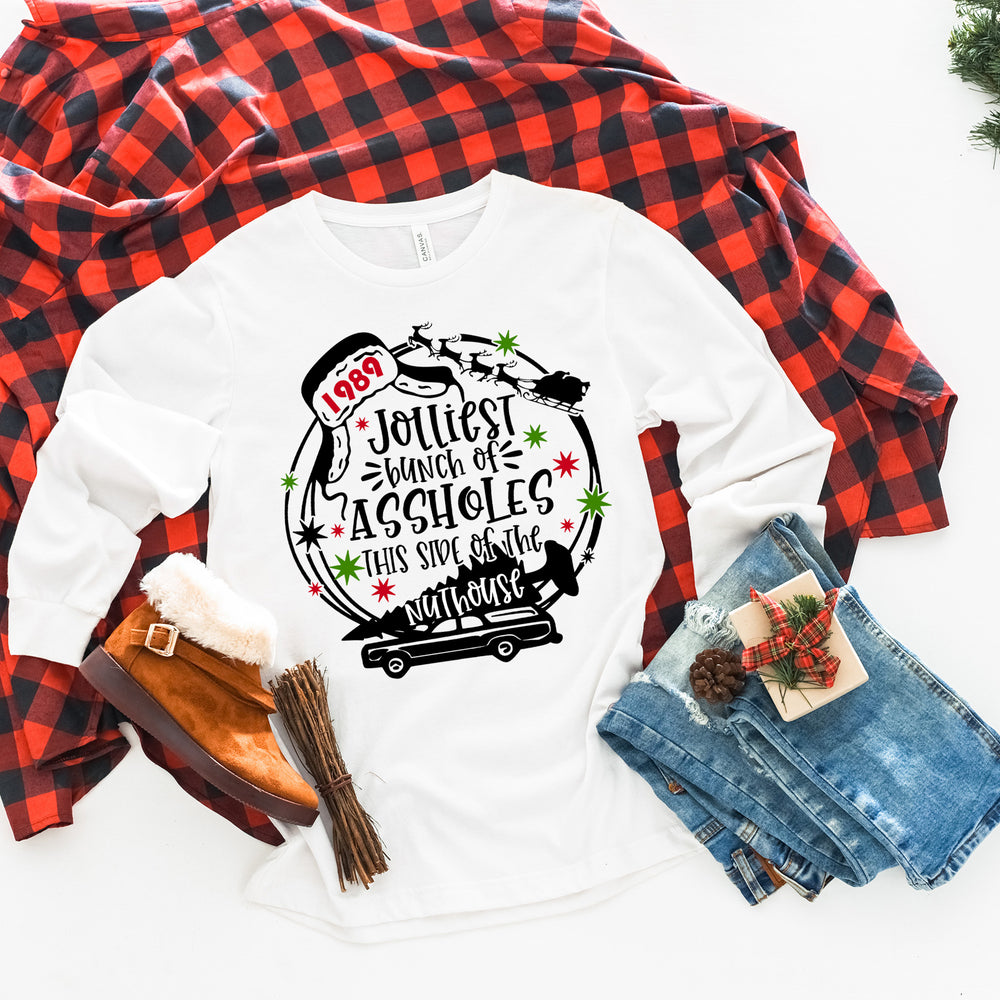 Jolliest Bunch of Assholes This Side of the Nuthouse Shirt | Long-Sleeve Christmas Shirt | Christmas Vacation | Griswold