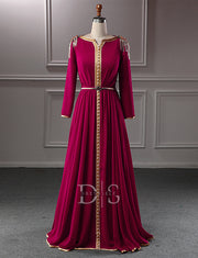 Red Moroccan Caftan Evening Dresses