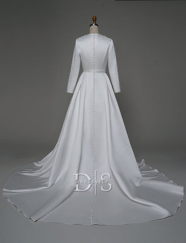 White Wedding Caftan Moroccan Kaftans