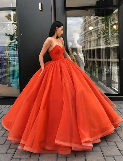 Ball Gown Long Prom Dress Sweetheart Where to Buy Evening Dresses for Women