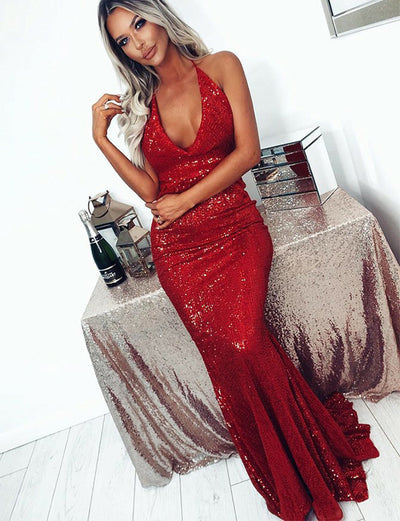 Sequin Prom Dress Long